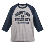 Disney Adult Shirt - Monsters University - Baseball T-Shirt