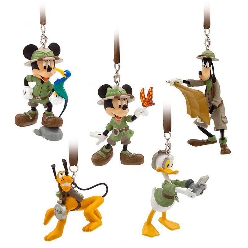 Disney Ornament Set - Mickey Mouse & Friends Safari - Animal Kingdom