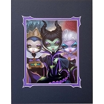 Disney Print - Jasmine Becket-Griffith - Villains Group Portrait
