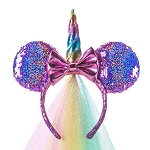 Disney Minnie Ear Headband - Unicorn - Sequin