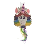 Disney Plush Hair Clips - Rainbow Unicorn Hair Clips