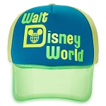 Disney Visor Baseball Cap - Walt Disney World - Neon