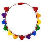 Disney Light Up Necklace - Mickey Icon - Rainbow Disney Collection