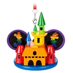 Disney Ear Hat Ornament - Mickey & Minnie Mouse Castle - Rainbow Disney Collection