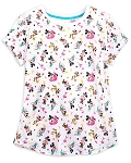 Disney Woman's Shirt - Mickey & Minnie Mouse - Summertime Fun