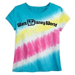 Disney Woman's Shirt - Walt Disney World Logo - Tie-Dye