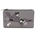 Disney Loungefly Flap Wallet - Mickey Mouse Plane Crazy