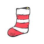 Universal Studios Magnet - The Cat in the Hat Stocking