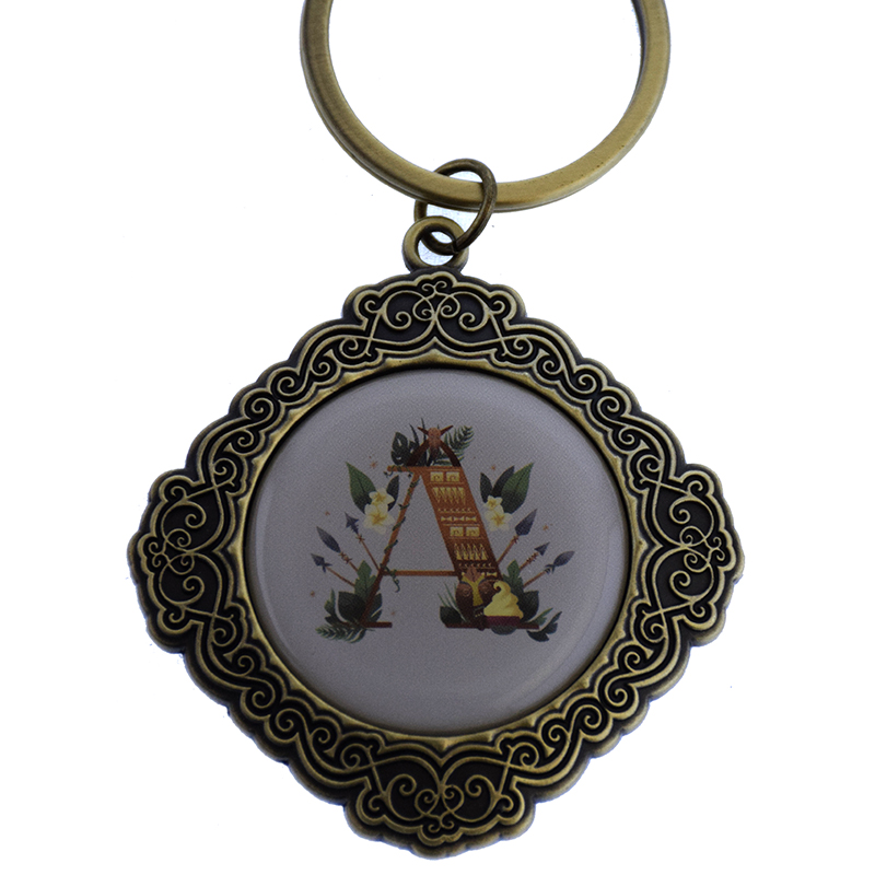 Disney Keychain Keyring - Initial Mickey Mouse - A Is For Adventureland
