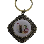 Disney Keychain Keyring - Initial Mickey Mouse - P Is For Peter Pan's Flight