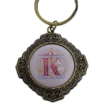 Disney Keychain Keyring - Initial Mickey Mouse - K Is For King Arthur Carousel