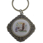 Disney Keychain Keyring - Initial Mickey Mouse - J Is For Jungle Cruise