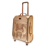 Disney Loungefly Rolling Luggage - Briar Rose Gold