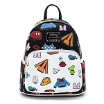 Disney Loungefly Bag - Sensational 6 - Mickey & Friends Character Clothing Icons - Mini Backpack
