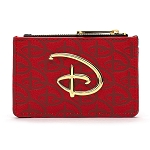 Disney Loungefly Cardholder Coin Purse - Disney Logo - Red / Black