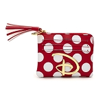 Disney Loungefly Cardholder - Disney Logo Red & White Polka Dot
