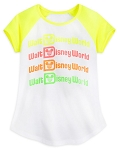 Disney Girls Shirt - Walt Disney World - Neon