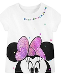 Disney Girls Shirt - Minnie Mouse Who Needs a Crown When You Have a Bow - Reversible Sequin