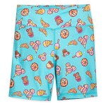 Disney Girls Bike Shorts - Disney Parks Food Icons