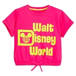 Disney Girls Shirt - Walt Disney World - Neon Cropped Top