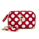 Disney Loungefly Bag - Disney Logo - Red & Black Polka Dot
