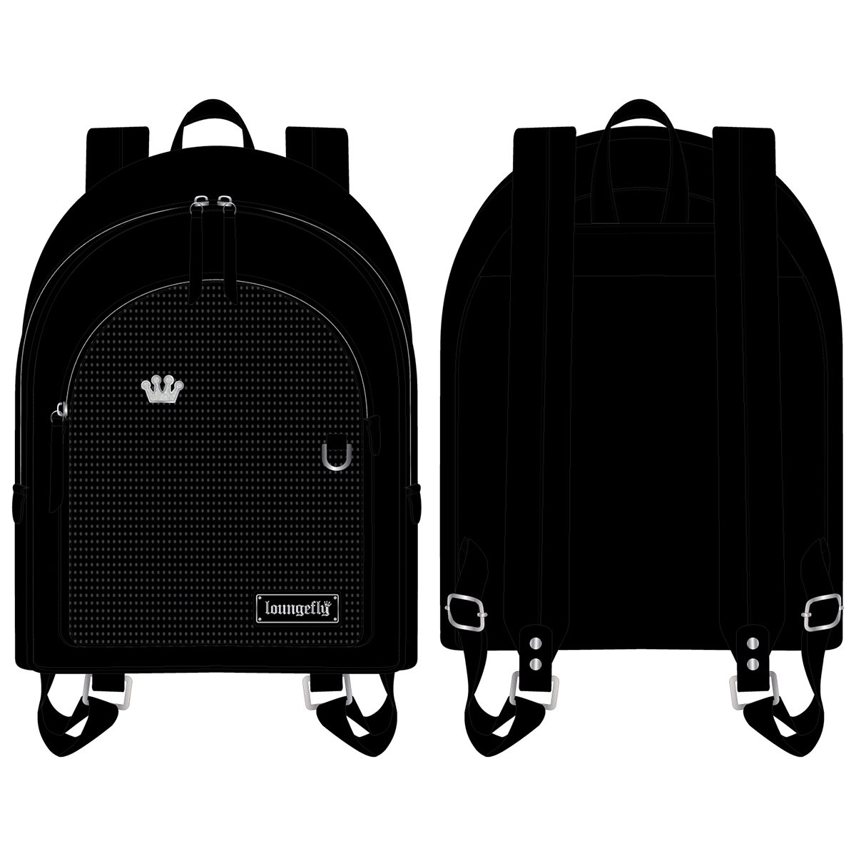 Disney Loungefly Mini Backpack Bag - Pin Trader - Black