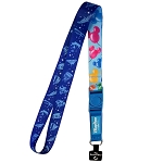 Disney Reversible Lanyard - Magic Kingdom Attractions and Mickey Balloons