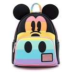 Disney Loungefly Mini Backpack Bag - Mickey Mouse Pastel Rainbow