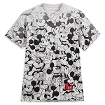 Disney Adult Shirt - Mickey Mouse Allover