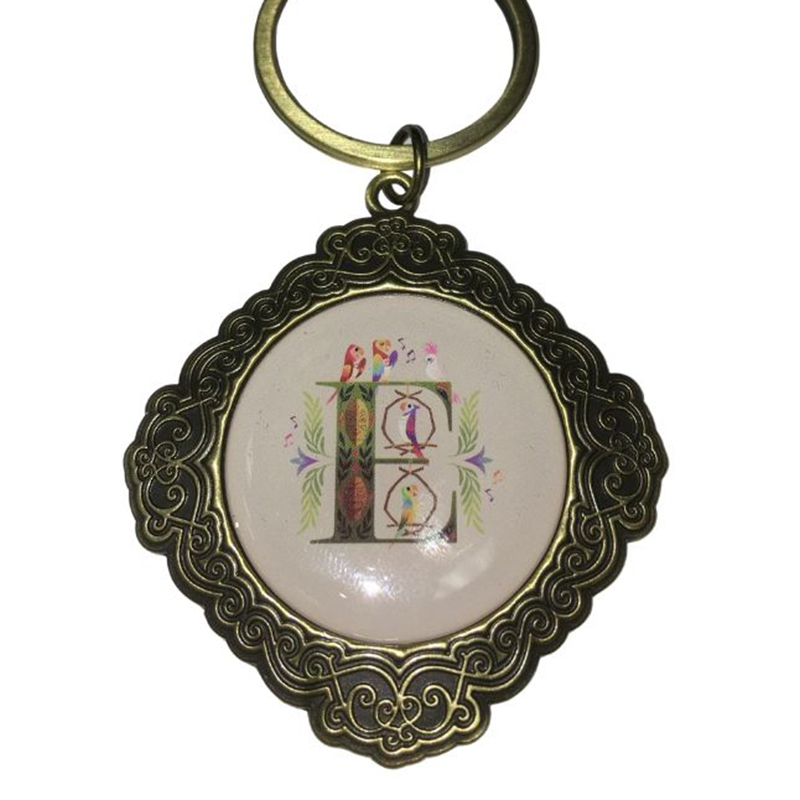Disney Keychain Keyring - Initial Mickey Mouse - E Is For Walt Disney's Enchanted Tiki Room