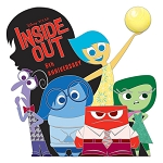 Disney Pin - Inside Out - 5th Anniversary - Limited Edition