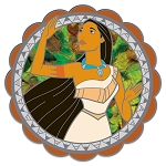 Disney Spinner Pin - Pocahontas - 25th Anniversary - Limited Edition