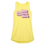 Disney Girls Jersey Tank Dress - Walt Disney World - Neon
