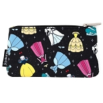 Disney Loungefly Nylon Pouch - Princess Dresses - Coin Bag