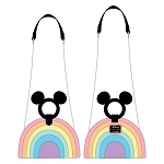 Disney Loungefly Bag - Mickey Mouse Pastel Rainbow - Crossbody Purse