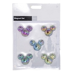 Disney Magnet Set - Jeweled Mickey Mouse Icon - Set of 5