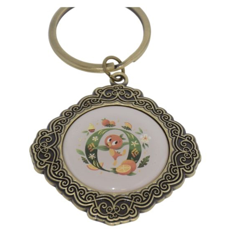 Disney Keychain Keyring - Initial Mickey Mouse - O Is For Orange Bird