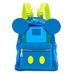 Disney Parks Loungefly Mini Backpack Bag - Mickey Mouse Neon