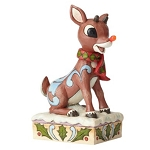Rudolph Jim Shore Figure - Rudolph With Light Up Nose