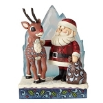 Rudolph Jim Shore Figure - Rudolph with Santa and Iceberg