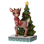 Rudolph Jim Shore Figure - Rudolph Standing By Tree