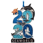 SeaWorld Figure Ornament - 2020 Sea Life Logo
