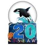SeaWorld Snow Globe - 2020 Sea Life Logo