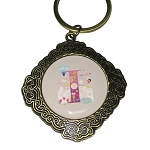 Disney Keychain Keyring - Initial Mickey Mouse - I Is For ''it's a small world''