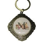 Disney Keychain Keyring - Initial Mickey Mouse - M Is For Main Street U.S.A.
