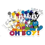 Disney Postcard - Colorful Mickey Mouse - Oh Boy!