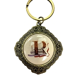 Disney Keychain Keyring - Initial Mickey Mouse - R Is For Riverboats