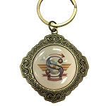Disney Keychain Keyring - Initial Mickey Mouse - S Is For Soarin