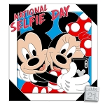 Disney Pin - Celebrate Today - 06 National Selfie Day 2020 - Mickey & Minnie Mouse