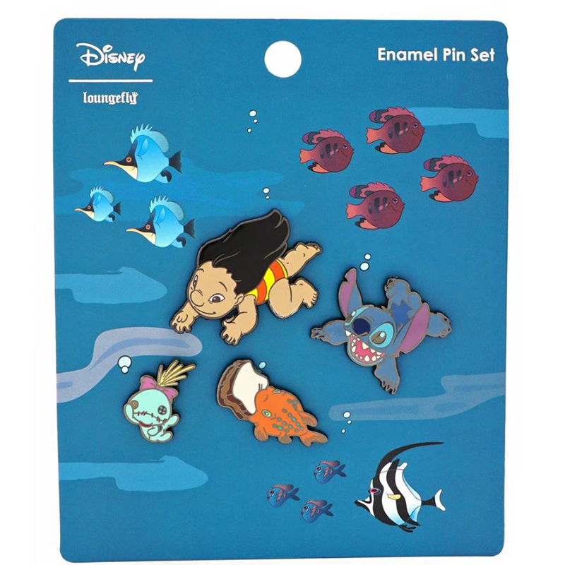 Disney Loungefly Pin Set - Lilo & Stitch - Hawaiian Roller Coaster Ride